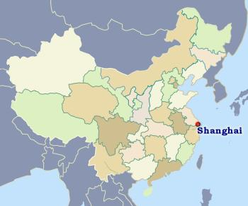 Position of Shanghai in China