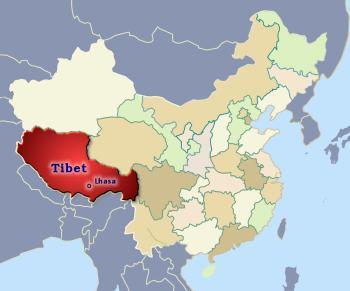 Lhasa China Map.Tibetan Autonomous Region China