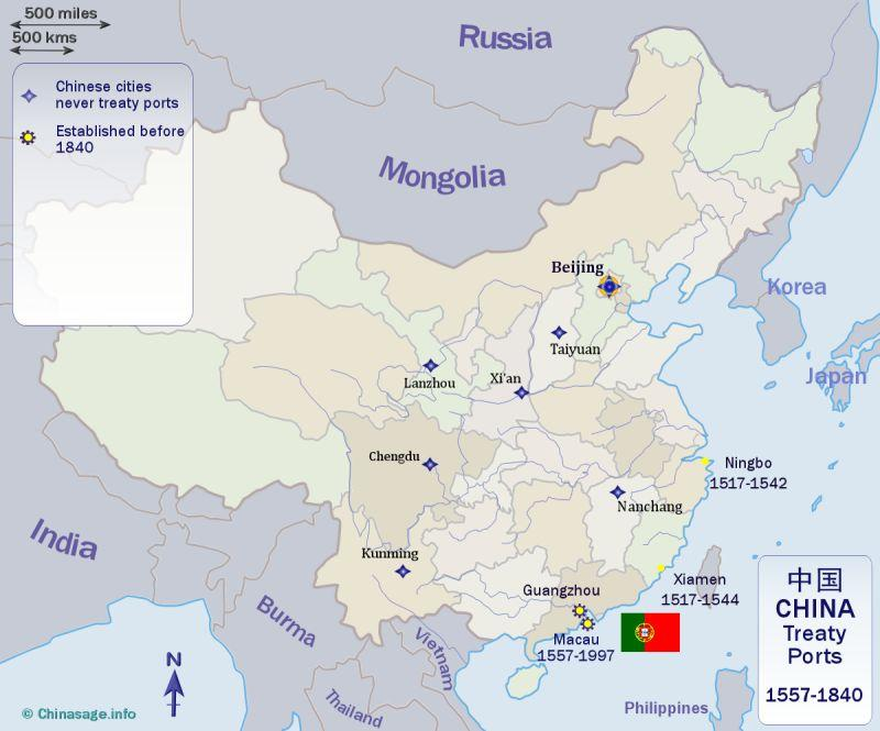 ports of china map Foreign Treaty Ports And Enclaves In China ports of china map