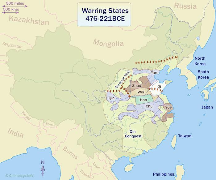 Warring States Period - the second half of the Eastern Zhou Chinese on