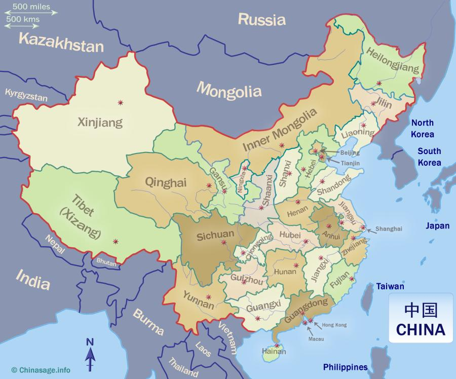 All China provinces