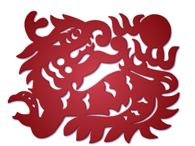 zodiac,paper-cut,dragon