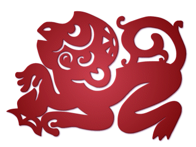 zodiac,paper-cut,monkey