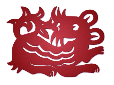 zodiac,paper-cut,rat
