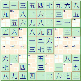 Chinese number Sudoku